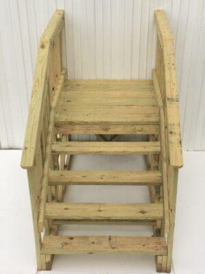 42 x 42 Wood Platform Step