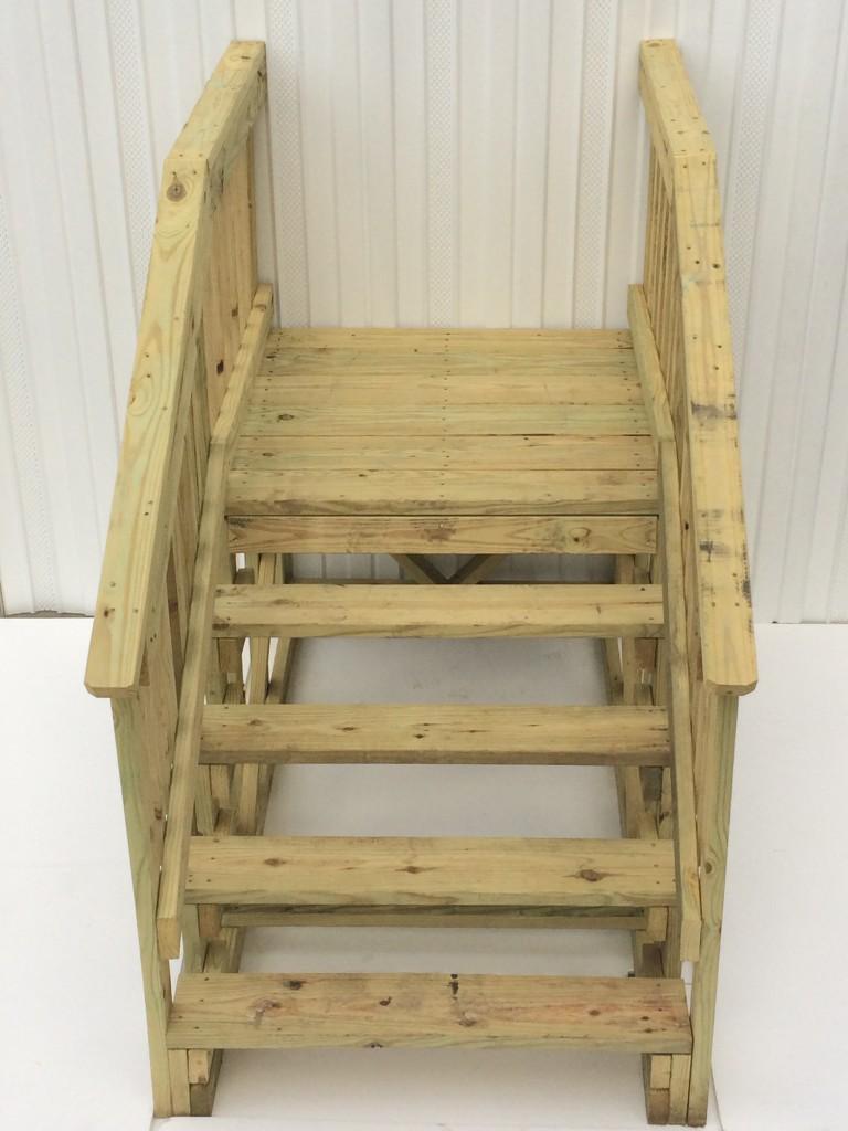 42 X 42 Treated Wood Platform Step Royal Durham Supply