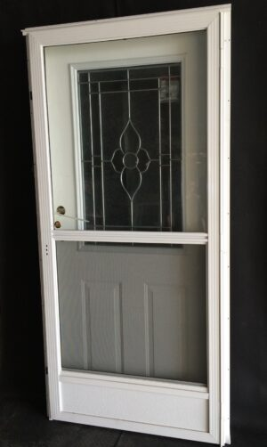 Combination house type doors archives royal durham supply for Door and screen door combo