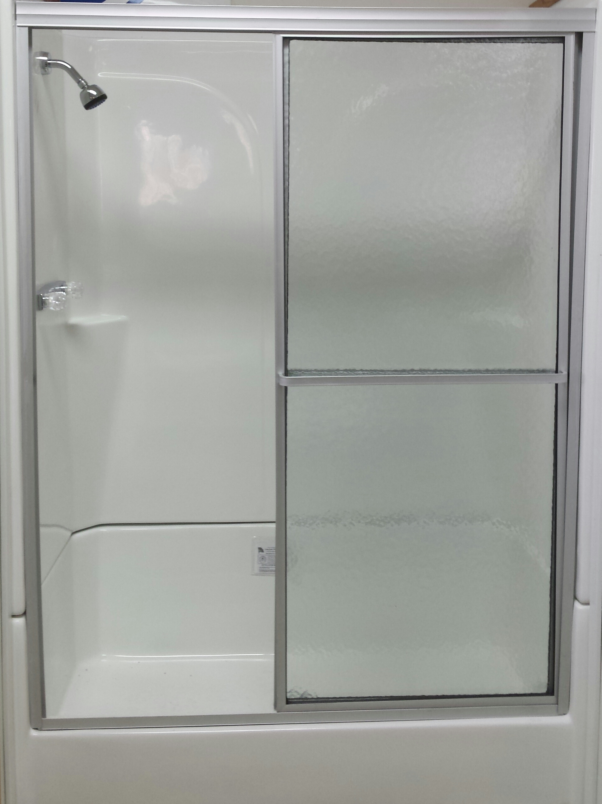 FIBERGLASS SHOWER BASE w/ SURROUND AND DOOR - Royal Durham Supply