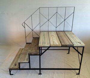 Metal Frame Platform Step