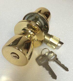 130008 Gold Entry Lock