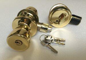 130056 Gold Combo Lock & Dead Bolt
